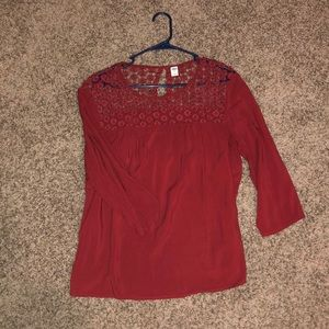 Cute dressy blouse from Old navy (maroon)